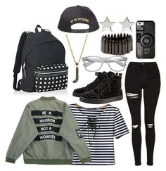 [Jacey] Airport by deaththeghoul on Polyvore featuring polyvore fashion style Chicnova Fashion Topshop Christian Louboutin Bullet Givenchy KC Designs Casetify Retrò Yves Saint Laurent clothing