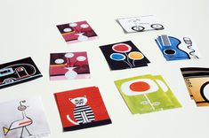 Memory Game--print duplicates of the colourful cards from the website and store them in a peppermint tin. Game is played by turning over two cards to try and make a match. Players must try and remember where the various cards are situated between turns.