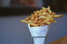 Saus fries.  LEarning to make home-made fries?