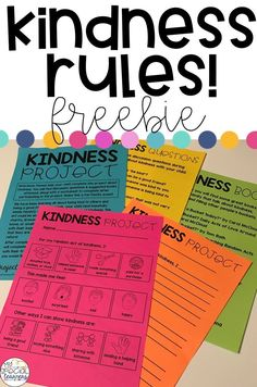 """Inside this freebie you will find printables to send home with your students to work on a """"kindness project"""" with their family. The differentiated worksheets make it possible for ALL students to participate in this activity!"""