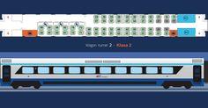 Pendolino (EIP) - wagon nr 2 (miejsca 2. klasy oraz przedziały dla podróżnych z dziećmi do lat 6 i kobiet w ciąży)