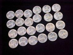 24 1959 Brilliant Uncirculated BU 90 Silver Quarters Shiny LQQK | eBay