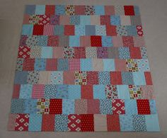 Stash buster quilt that is quick and easy.  Love the colors