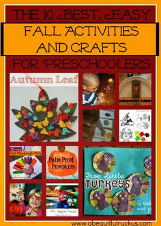 A Beautiful Ruckus: The 10 Best, EASY Fall Activities and Crafts for Preschoolers + $2000 Giveaway!