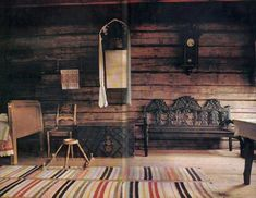 The typical room in an old russian cottage  cyrillitsa.ru