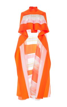 Sleeveless Striped Organza Top by DELPOZO for Preorder on Moda Operandi