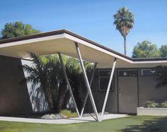 Mid Century Modern Home with Carport - Bing images Modern Landscape Design, Modern Interior Design, Mid Century House, Mid Century Style, Midcentury Modern, Carport Modern, Mid Century Exterior, Pergola, Gazebo