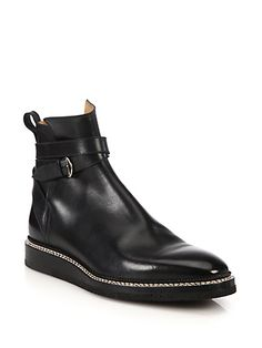 BALLY Leysin Leather Ankle Boots. #bally #shoes #boots