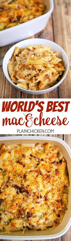 World's Best Mac and Cheese - so creamy, cheese and delicious! Just like the original at Beecher's in Seattle! Pasta tossed in a quick homemade cheese sauce with Jarlsberg and Jack cheese. We added pancetta - crazy good! Everyone cleaned their plate!