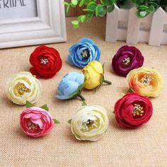 Simulation fake flower bud Rose bud tea camellia small edge clip hairpin DIY materials wholesale Sen female garland