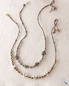 stone and nugget necklace