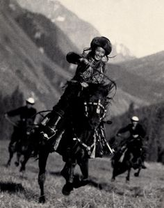 Kyrgyzstan Horsewoman, 1936.