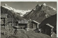 Original Vintage Postcard, Switzerland - Volovron sur Evolene - Publisher: Gyger & Klopfenstein, Adelboden Great old unused postcard. Adelboden, Pyrenees, Wallis, Cosy, Mount Everest, 1950s, Destinations, French, Landscape