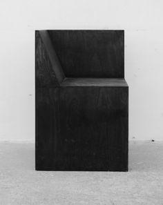 Rick Owens Half Box Chair, Black Plywood - Salon 94