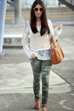 Hello Fall: Lace + Camo