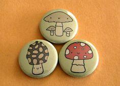 Mushrooms Button Set.