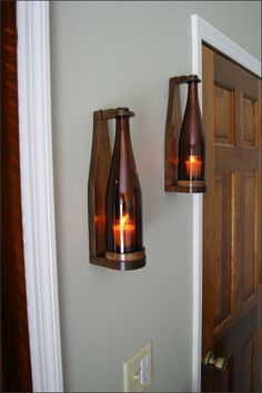 #woodsmithofnaples Our sconces are truly unique and make a perfect gift for wine lovers.