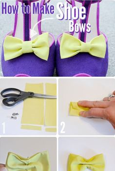 DIY: Bow Shoe Clips