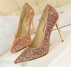 Wealsex Escarpin Paillette Bout Pointu Talon Haute Aiguille Chaussure  Soirée Mariage Club Mode Sexy Femme  Amazon.fr  Chaussures et Sacs d22568eb563c