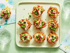 Potato Nests with Peas, Ham and Cream Cheese Recipe | Food Network Kitchen | Food Network Easter Appetizers, Elegant Appetizers, Easter Dinner Recipes, Easter Brunch, Appetizer Recipes, Brunch Recipes, Party Appetizers, Holiday Recipes, Dessert Party