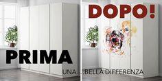 Gli unici online a decorare direttamente le ante del tuo armadio Ikea Pax. www.decorailtuoarmadio.com Decor, Home Decor Decals, Home Decor