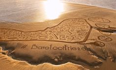 Morecambe Bay took five people ten hours to complete/ Barefoot Wine helps keep beaches clean!