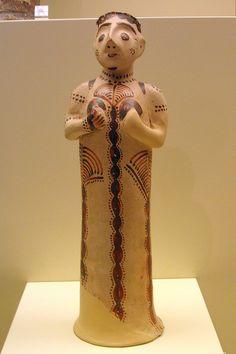 Bronze age Etruscan figure from Etruscan colony Mycenea C.2500 BCE