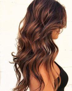 Reddish Blonde Hair, Dark Ombre Hair, Blonde Hair With Highlights, Brunette Hair, Ombre Brown, Carmel Ombre Hair, Gorgeous Hair Color, Cool Hair Color, Trendy Hair Colors