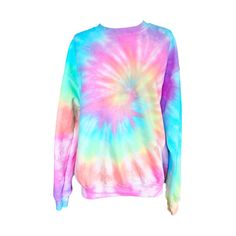 Pastel Tied Dyed sweatshirt! Warm soft sweatshirt with awesome pastel colors! Each shirt is hand dyed in a pastel rainbow, each dye pattern is