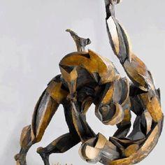 Judo sculpture