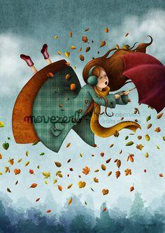 Mischievous wind - Signed print by movezerb. €19.00, via Etsy.