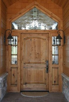 Looks Beautiful Exterior. Elegant Arts And Crafts Entry Door Style With  Sidelites And Transom Design And Antique Outdoor Wall Sconces Ideas.
