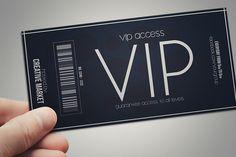 Minimal style VIP PASS cards by Tzochko on Creative Market