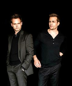 * Suits. Mike and Harvey. Patrick J. Adams and Gabriel Macht.