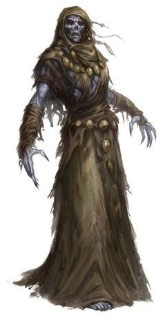 Lich from beginning Fantasy Races, High Fantasy, Fantasy Rpg, Medieval Fantasy, Fantasy Artwork, Fantasy World, Fantasy Monster, Monster Art, Fantasy Creatures