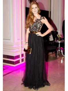 546889d4aed black lace  marina ruy barbosa  PatriciaBonaldi. mayra . Prom · prom dress  prom dresses Vestido De Festa ...