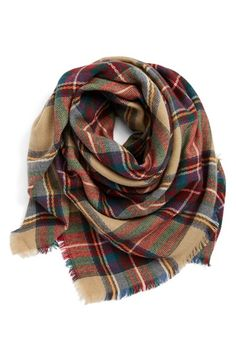Free shipping and returns on Accessory Collective Plaid Square Scarf at Nordstrom.com. A colorful plaid scarf finished with eyelash fringe trim is perfect for adding a preppy touch to your ensemble.