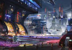 NAME: Alejandro Olmedo Nieto WEB: http://alex_olmedo.artstation.com COUNTRY: España SOCIAL: https://www.facebook.com/TheConceptArtOfAlexOlmedo, http://instagram.com/alexolmedoart/ TITLE: Conquistando el Cielo Urbano TECHNIQUE: Photoshop YEAR: 2015 DESCRIPTION: En el futuro, el continuo crecimiento de las ciudades y el desarrollo de la tecnología ayudarán a crear las superciudades. Las agencias de transporte llenarán el cielo con Drones de reparto autónomos.