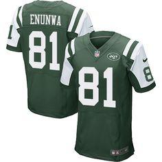 Men's Nike New York Jets #81 Quincy Enunwa Elite Green Team Color NFL Jersey