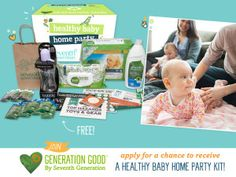 Healthy Baby Home Party kits are provided to all selected hosts and are filled with educational info about our environment, helpful tips, a fun game, and samples and coupons from Seventh Generation and other favorite family-friendly brands like bobble, Plum Organics and Zarbee's Naturals.