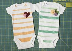 Painted Onsies..I have plenty of expected little ones I could make these for :)