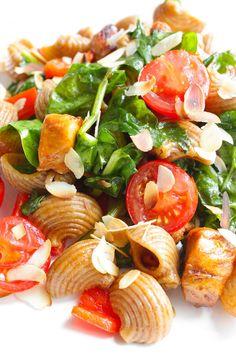 Zomerse pasta met honingkip en spinazie | Francesca Kookt!