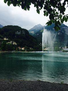 Weesen, Lake Walensee, Canton St. Gallen  Photo from 18.6.2015 auch ein Regentag kann schön sein