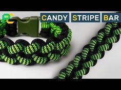 Candy Stripe Bar Paracord Bracelet - YouTube