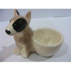Bull terrier egg cups: Eierbecher Set 2 Bullterrier