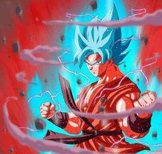 Goku SSJG Azul y el Kaioken