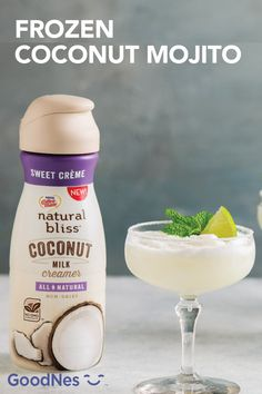 It's always five o'clock somewhere when it comes to this Frozen Coconut Mojito. This easy summer cocktail recipe uses Coffee-mate® natural bliss® Sweet Crème All-Natural Coconut Milk Coffee Creamer to create a sweet, creamy taste. Add in lime juice and fresh mint for a fun, zesty kick. Coconut Mojito, Coconut Milk, Refreshing Summer Drinks, Summer Cocktails, Summer Drink Recipes, Cocktail Recipes, Coffee Creamer, Fresh Mint, Lime Juice