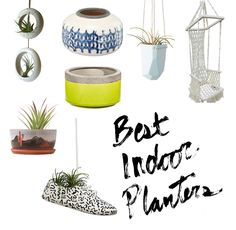 Happy plants, happy home!! Don't settle for a clay pot when there are so many indoor planter options out there that will make your home look stylish and unique!