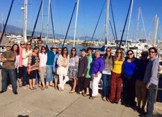 I love spending time with my advanced students! They're #soulshifts experts! Some with me at the Santa Barbara harbor