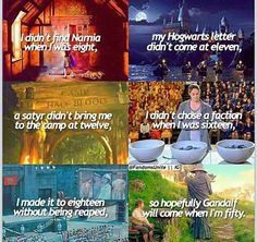 There is still hope... -Narnia, Harry Potter, Percy Jackson, Divergent, Hunger games, Lord of the rings